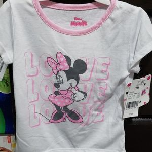 Minnie Mouse white/pink Love shirt